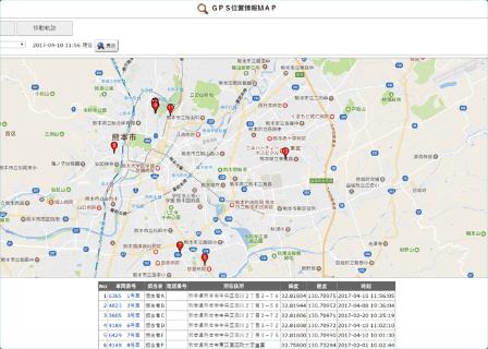 温湿度計の設置場所はGoogle マップで表示