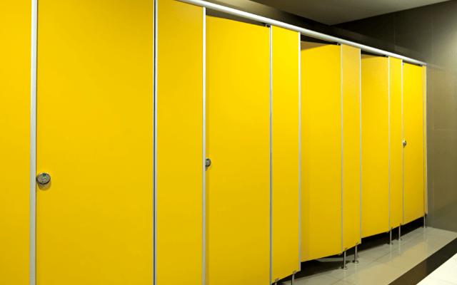 大型商業施設のトイレの空き状況が解る