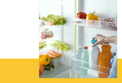 冷蔵庫内の食材の残量の見える化